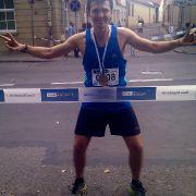Nerijus after running 84km at the 2013 Vilnius Marathon