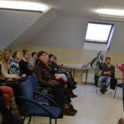 Talk with Sekmes Mokykla students