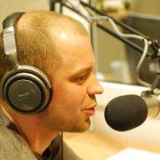 Tomas on the radio in Vilnius
