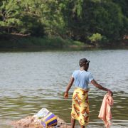 Washing clothes in the river