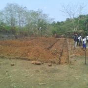 Foundations being dug