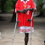 Amputee footballer from Makeni