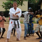 Ryits leading a karate lesson