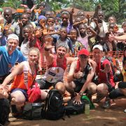 Team photo after 2012 marathon