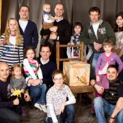With our kids & The Box